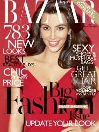 Kim Kardashian Covers US Harper's Bazaar March 2011