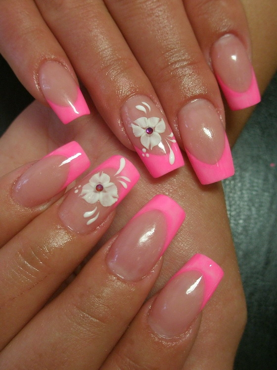 colorful french nail art designs 2011 makeup tips and fashion. Black Bedroom Furniture Sets. Home Design Ideas