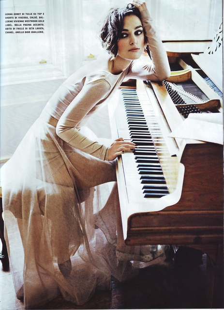 Keira Knightley Poses for Vogue Italia January 2011