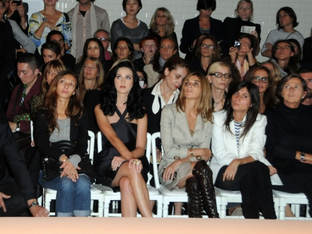 Roitfeld and Alt at the Jean Paul Gaultier SS 2011 show