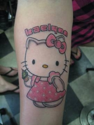 hello kitty tattoo art. Hello Kitty Tattoo Designs