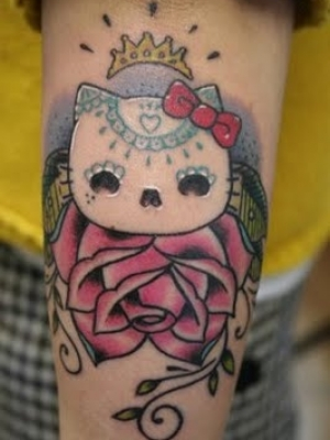 hello kitty tattoo designs. Hello Kitty Tattoo Designs