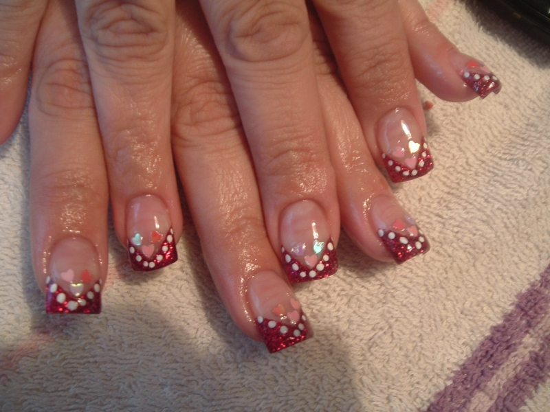 nail designs for valentines day
