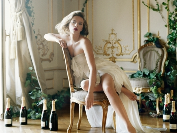 Scarlett Johansson for 2011Moet & Chandon Ad Campaign