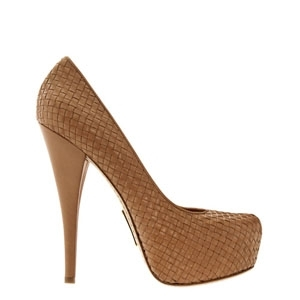 Alejandro Ingelmo Woven Sophie Taupe Pumps