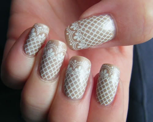 nail art patterns. Lace Nail Art Designs