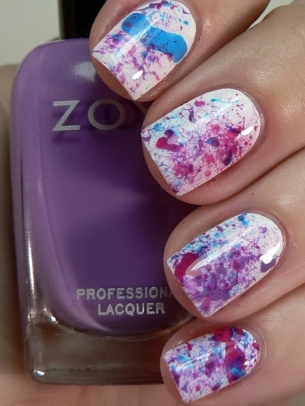 Water Color Nail Art