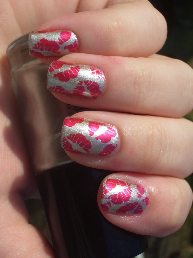 holy manicures red kiss nails how to panda nail art tutorial kiss and