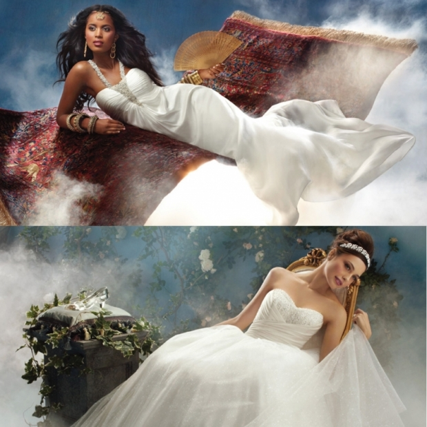 Disney and Alfred Angelo Design Fairy Tale Wedding Dresses