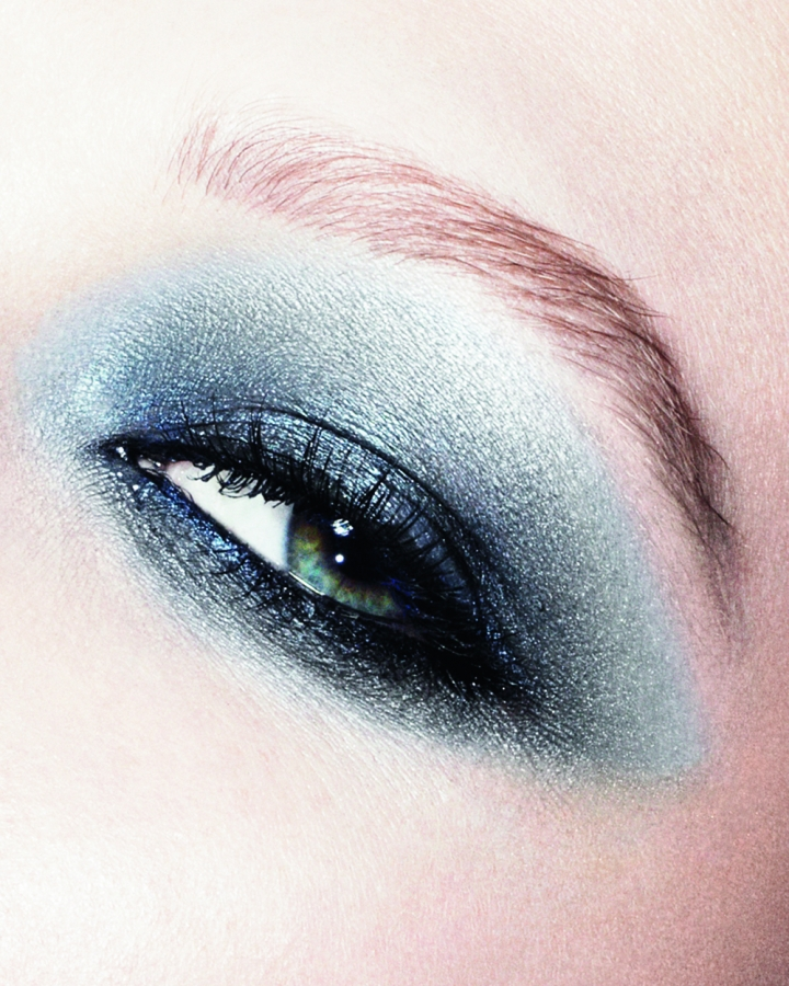 Dior Fall 2011 Blue Tie Makeup Collection.