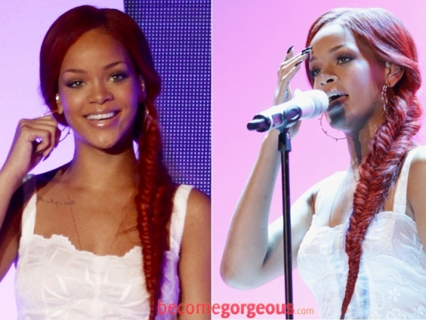 Rihanna Braided Pony Hairstyle