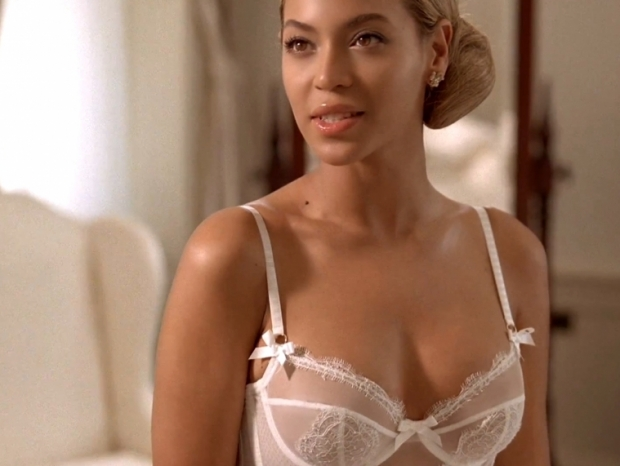 Beyonce in Bridal Lingerie Agent Provocateur