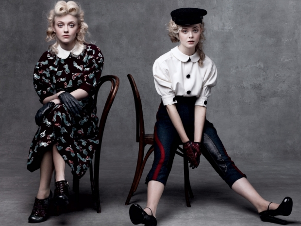Elle and Dakota Fanning Featured in Vogue August 2011