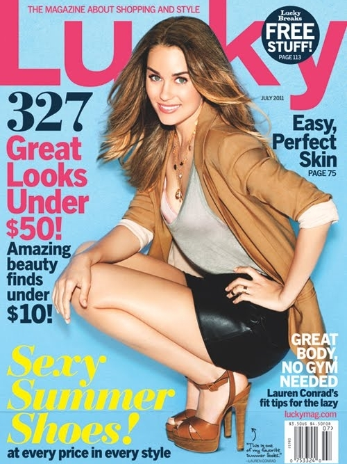 Lauren Conrad Covers Lucky July 2011