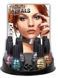 China Glaze Crackle Metals Nail Polishes Summer 2011