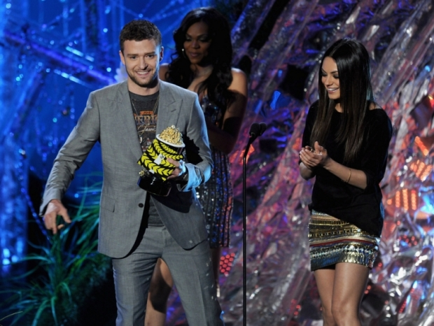 Mila Kunis and Justin Timberlake MTV Movie Awards 2011