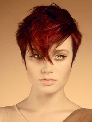 Short Red Hair Style