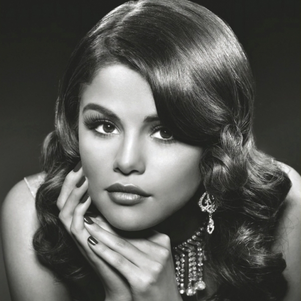 Selena Gomez Billboard Black White Picture