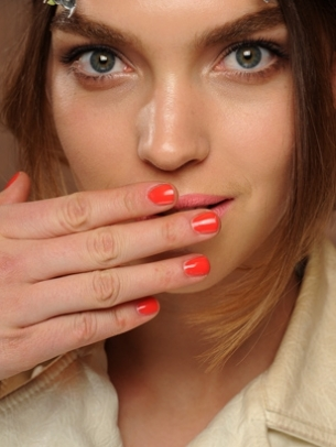 Orange Nail Color
