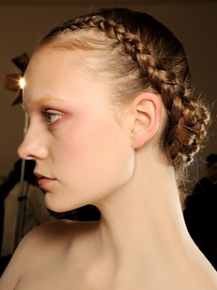 Braided Bangs Updo