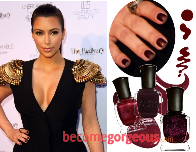 Kim Kardashian\'s Nail Colors in 2011.