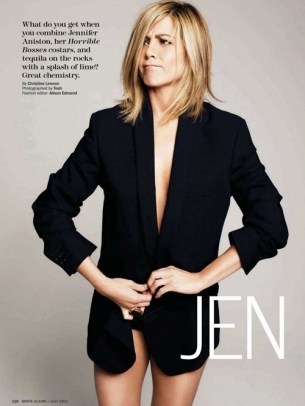 Jennifer Aniston Covers Marie Claire July 2011