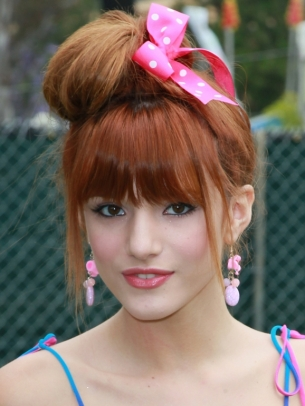 bellathorneupdo hair style thumb Glamorous Celebrity Summer Hair Styles