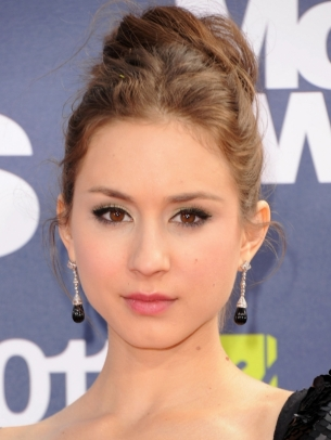troian bellisario top knot hair thumb Glamorous Celebrity Summer Hair Styles