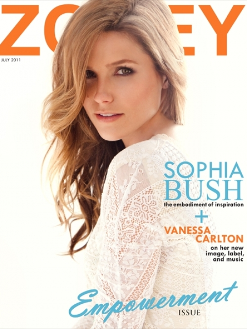 Sophia Bush Covers Zooey June/July 2011