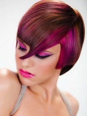 Magenta Hair Highlights