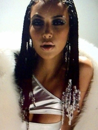 Kim Kardashian Music Video Braids Hairstyle