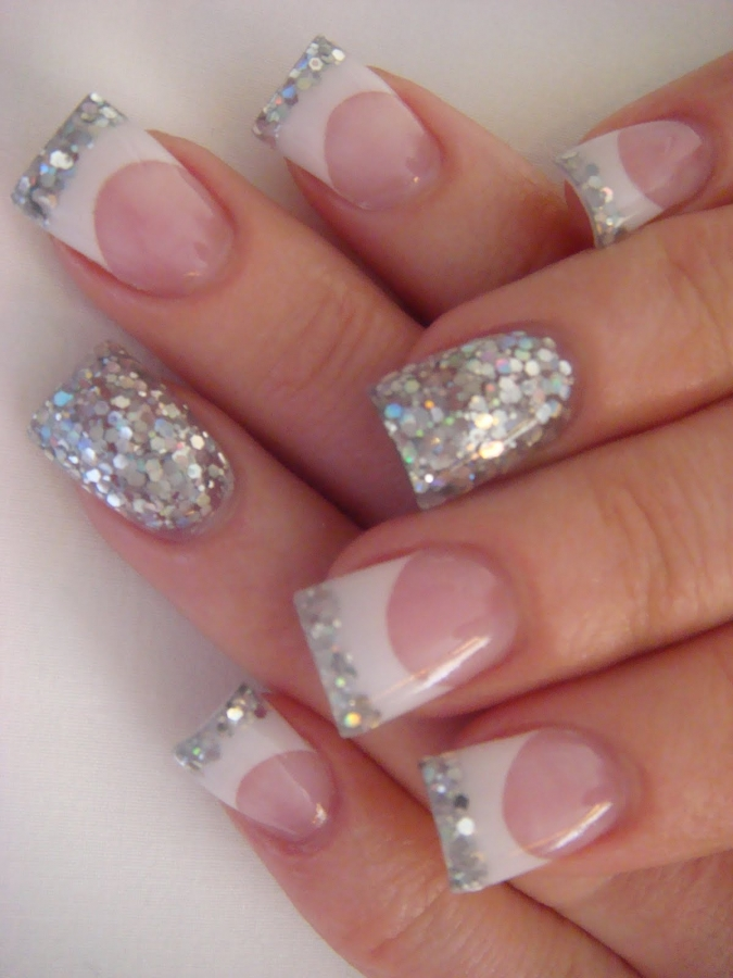 Top Glitter French Tip Acrylic Nail Designs 675 x 900 · 330 kB · jpeg
