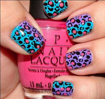 animal print nails 3 Animal prints nail art design is amazing idea for your nail manicure