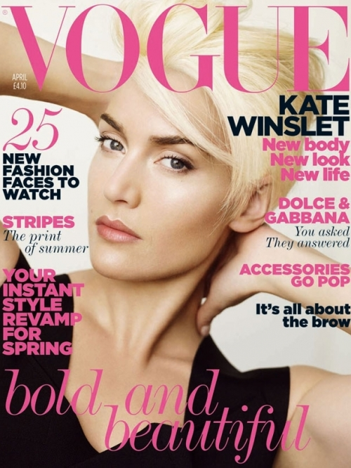 Kate Winslet Covers Vogue UK April 2011