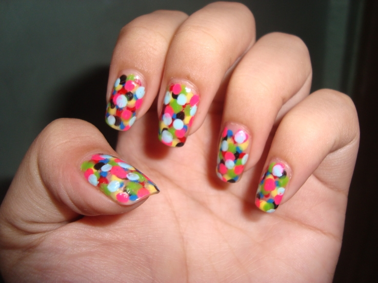 Easy colorful nail art designs makeup tips and fashion - Easy nail design ideas to do at home ...