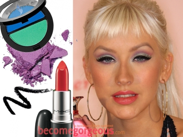 Purple Eye Makeup Celebrity Style
