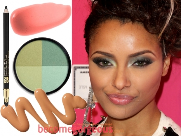 Green Eyes Makeup Celebrity Style