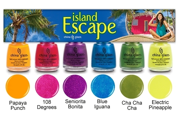 China Glaze Island Escape Swatches