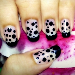 nail art style 3 thumb trends in manicure Stylish manicure nails with roses nails art design Luxury manicure latest nails designs French manicure elegant manicure dotted manicure decorated manicure amazing design