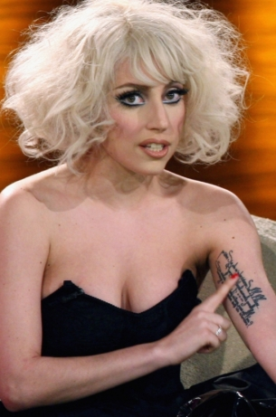 Lady Gaga Tattoo on Arm