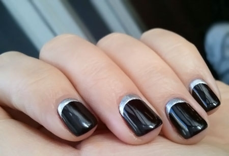 If You Re In Need Of A High Cl Manicure Design Consider The Half Moon Style To Make Sure Bring Out Most Your Nail Length And Shape