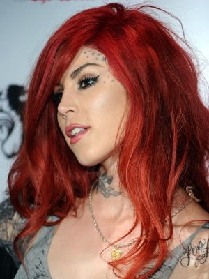 Exotic Red Hair on Kat Von D