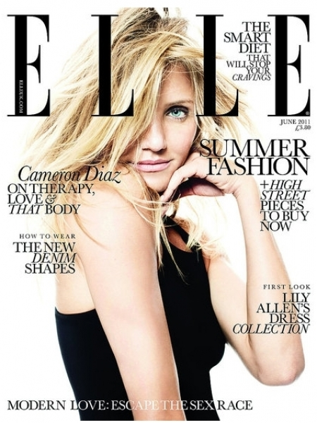 Cameron Diaz Covers Elle UK Magazine June 2011