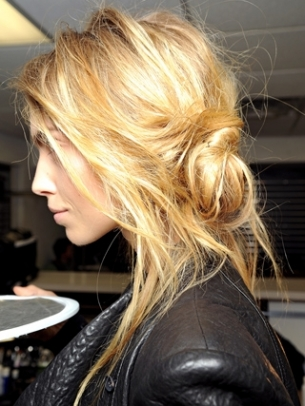 Messy Updo for School