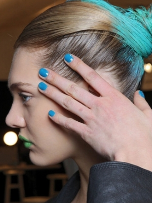 Blue Nail Color