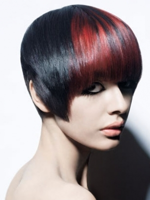 Black Hair With Red Highlights
