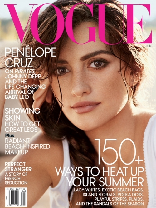 Penélope Cruz Covers Vogue June 2011
