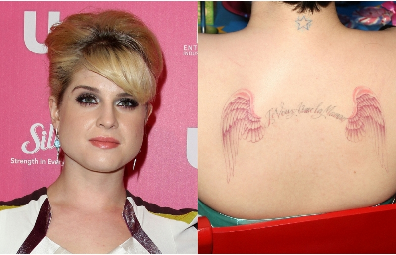 kelly osbourne tattoos. star tattoo, check out