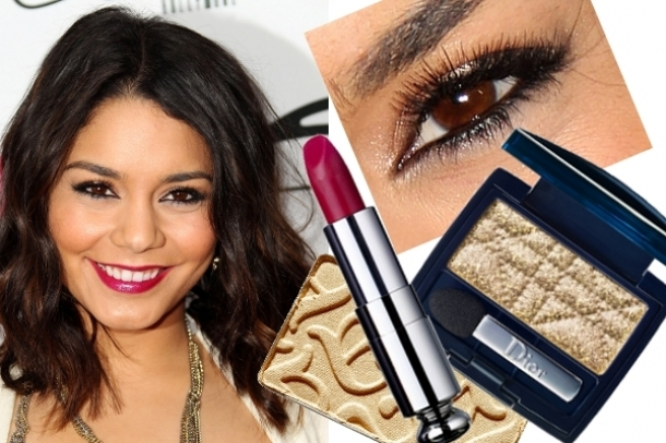 Vanessa Hudgens Golden Eye Makeup
