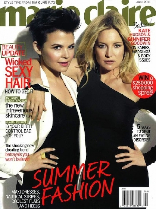 Ginnifer Goodwin and Kate Hudson for Marie Claire June 2011